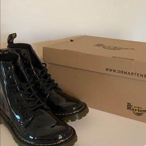 Dr. Martens | Black Coated Glitter Boot Size 7 NWT